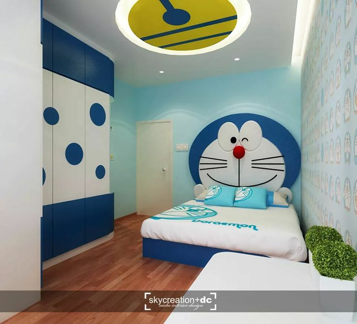 Doraemon bedroom doraemon pinterest bedrooms for Suhagrat bed decoration design