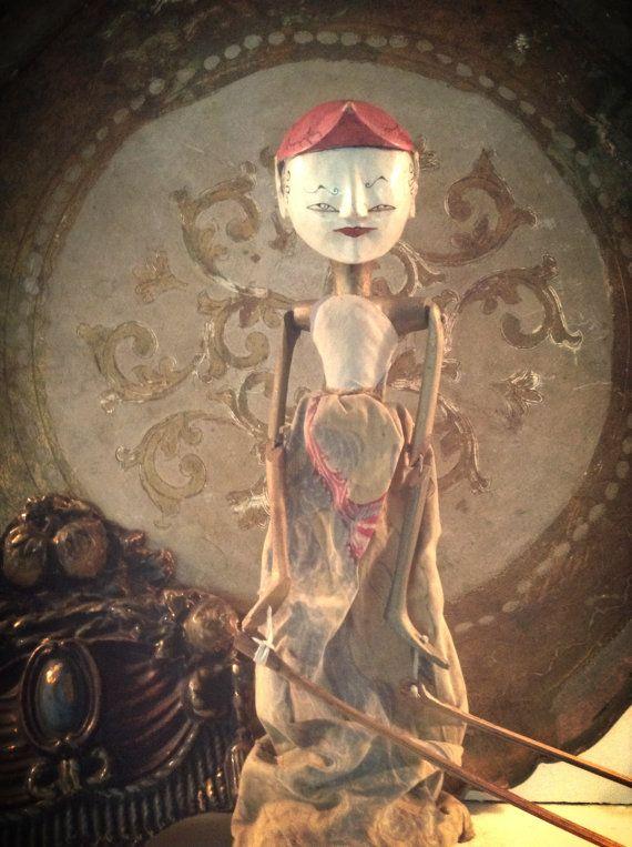 Vintage Indonesia Puppet Doll Balinese Puppet Vintage Ethnic Decor by DareToBeVintage,