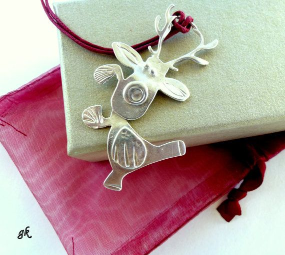 Reindeer sterling silver Christmas ornament by GeorgiaCollection, €35.00