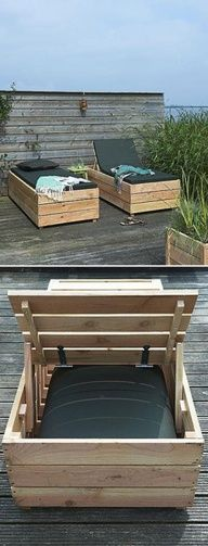 DIY Patio Day Bed . I want these my lounge chairs are falling apart.