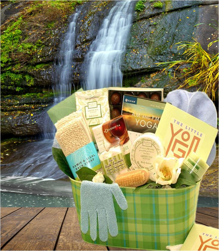 Yoga and Green Tea Gift Basket - Tennessee Baskets