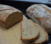 Pão integral com grãos e centeio #receita #vegana #vegetariana #vegan #vegetarianismo #veganismo