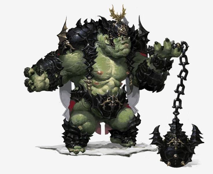 Looks like an overgrown hybrid of an orc and ogre.