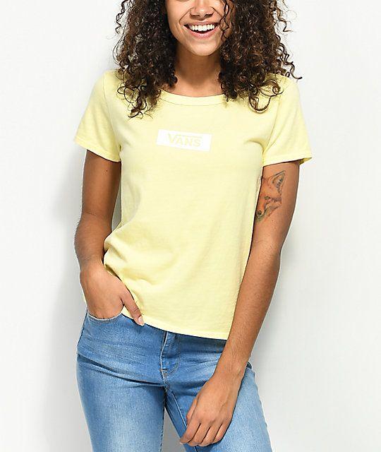 ba52d84e2d0 Vans Skimmer Box Drop V Yellow T-Shirt in 2019