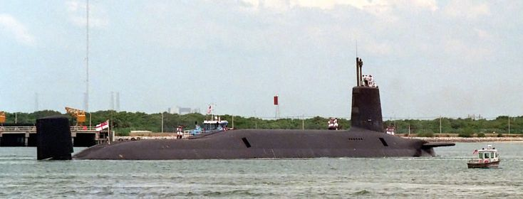 HMS Vanguar (S28) Trident Ballistic Missile Submarine based at Faslane,Scotland.