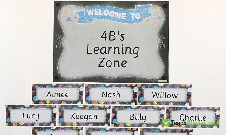 customisable classroom welcome signs