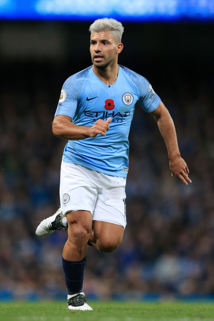 Manchester England November 11 Sergio Aguero Of Man City In Action During The Premier League Match B Premier League Matches Manchester City Soccer Pictures
