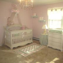 Pink White And Sage Green Baby Princess Nursery With Tiara Roses Homemade Crib Canopy