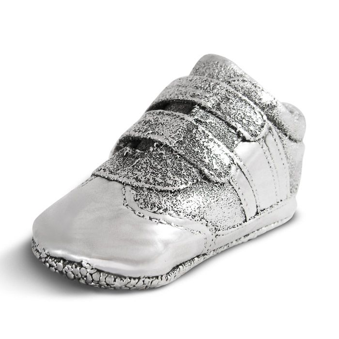 """Baby's shoe coated with 999° pure silver, with the name """"Foteini"""" and a lovely inscription by her parents. By Shine4ever.gr !"""