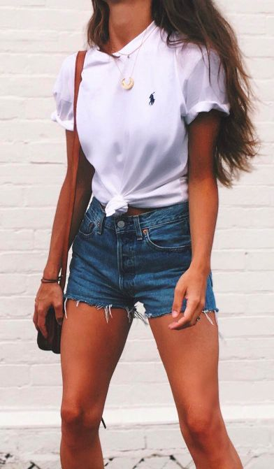 baggy tees + cutoffs #polo #poloralphlauren