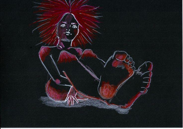 Random N 29  #art #illustration #drawing #draw #foot #share #artist #sketch #sketchbook #paper #pen #artsy #instaart #instagood #gallery #paperdark #creative #black #readhead #madness #dark #darkness #artoftheday #randomworld #girl #handmade #japangirl #japan #doodle