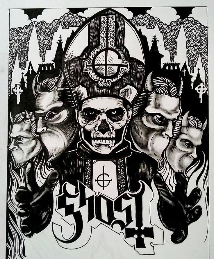 """emilyn3ver: """" 'Ghost'- 2015 Pen & ink """""""