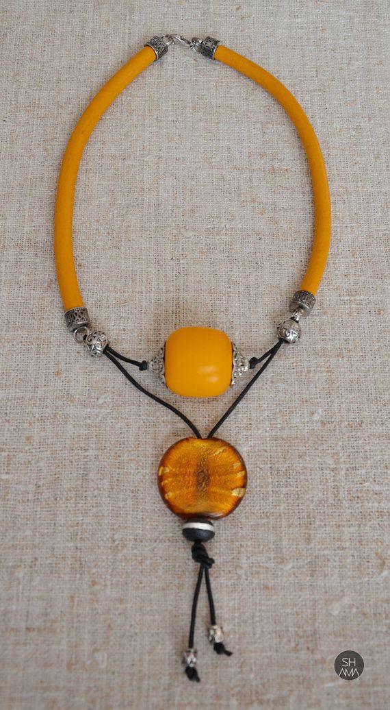 Eyecatching Tribal Sunset Necklace от SHAMAporti на Etsy