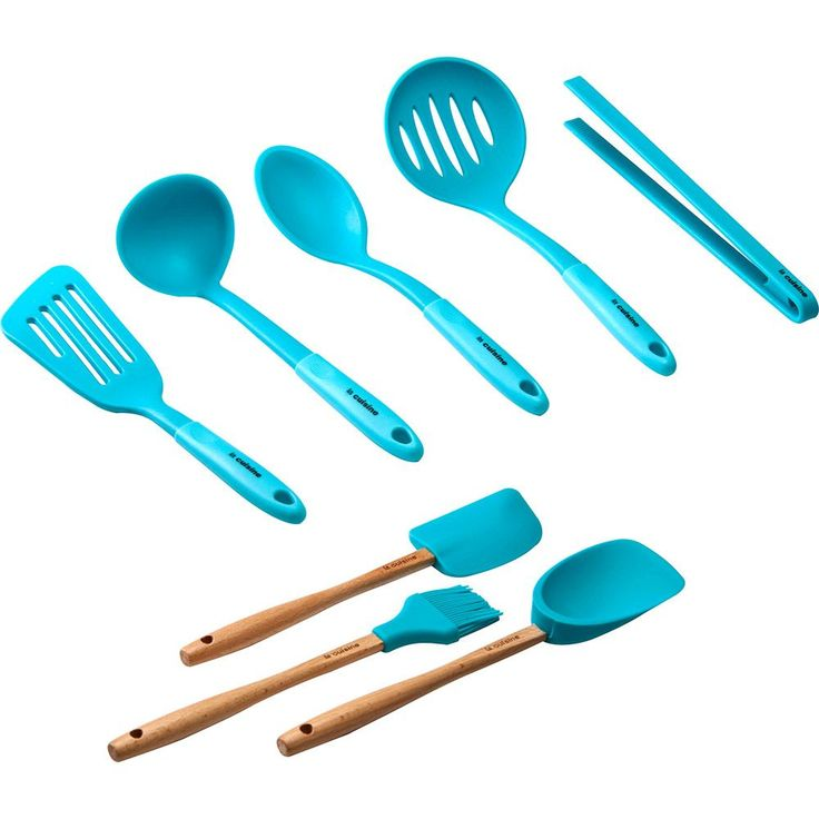 Conjunto Silicone 8 Peças Azul La Cuisine
