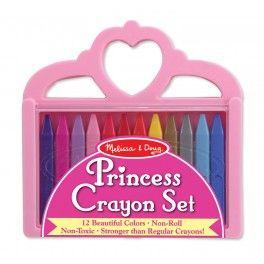 Navrženo k potěšení každé princezny, tento krásný přenosný kufřík ve tvaru korunky obsahuje 12 voskovek.