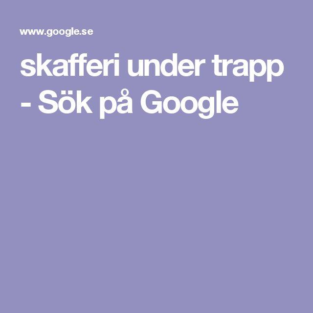skafferi under trapp - Sök på Google