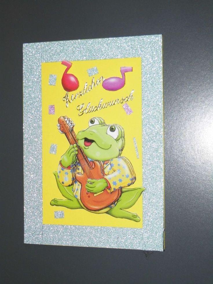 3D Grusskarte Geburtstag Singender Frosch