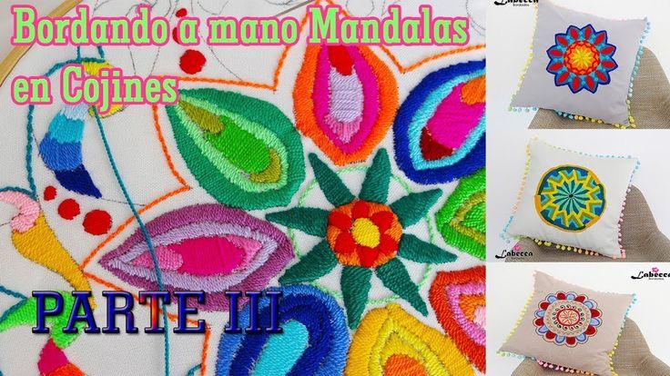 Como Bordamos a mano un Mandala By Labecca Bordados PARTE III. COJIN DEC...