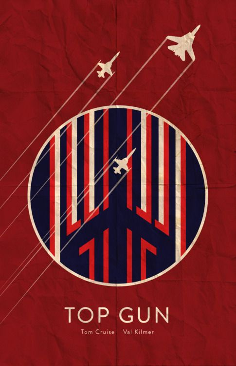 Top Gun (1986) ~ Minimal Movie Poster by Benjamin Capazo #amusementphile