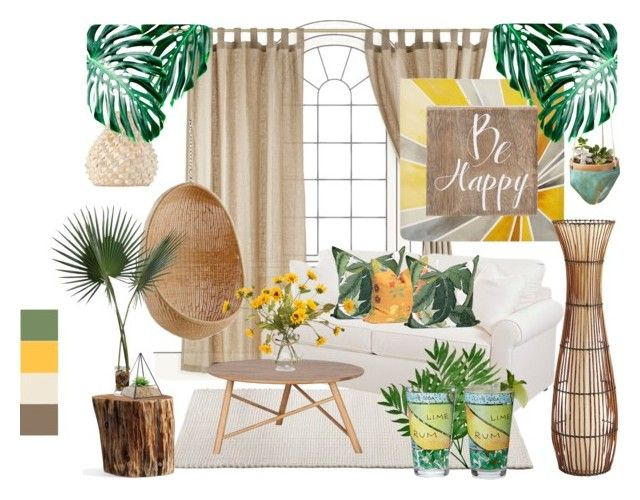 """""""Earthy calm"""" by kelschiao on Polyvore featuring interior, interiors, interior design, home, home decor, interior decorating, Intelligent Design, Belle Maison, Sika and Pottery Barn"""