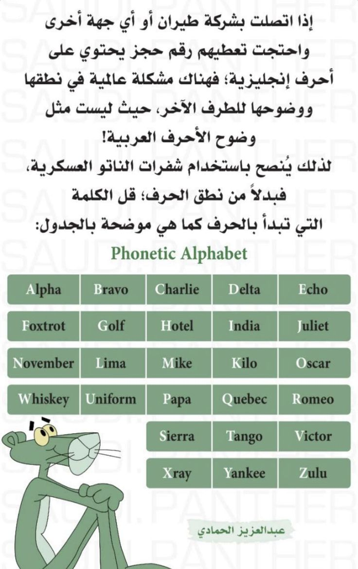 Pin By Re0o0iry On Informations معلومات Phonetic Alphabet Golf