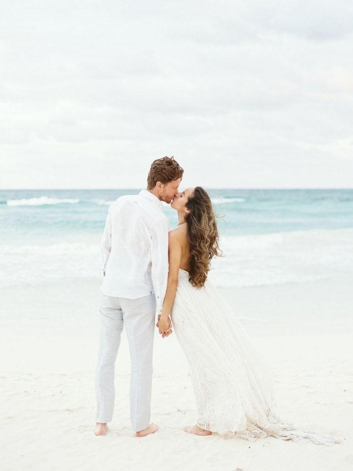 Effortless beach wedding style. #beachwedding #destinationwedding