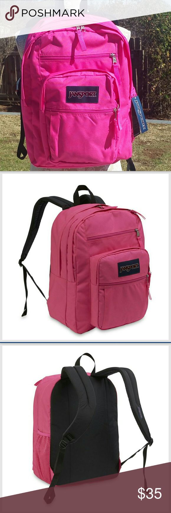 🎀Neon PINK💖 BIG STUDENT🎒 Brand new with tags jansport backpack. Lifetime warranty. Very stylish and cool color! Gear for everyday life ! Features: two main zipper compartments for all your large items. A front gear pocket and side cellphone pocket keep your electronics organized, while an expandable front pocket puts essentials at the ready. S-curve shoulder straps and a padded back ensure ergonomic comfort. Great Deal! Retail price $65. Jansport Bags Backpacks
