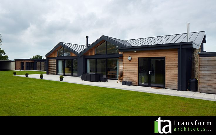 Disability bungalow in Harrogate, grey render and cedar cladding