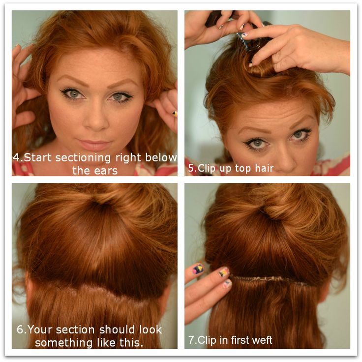 how to put hair up in a clip