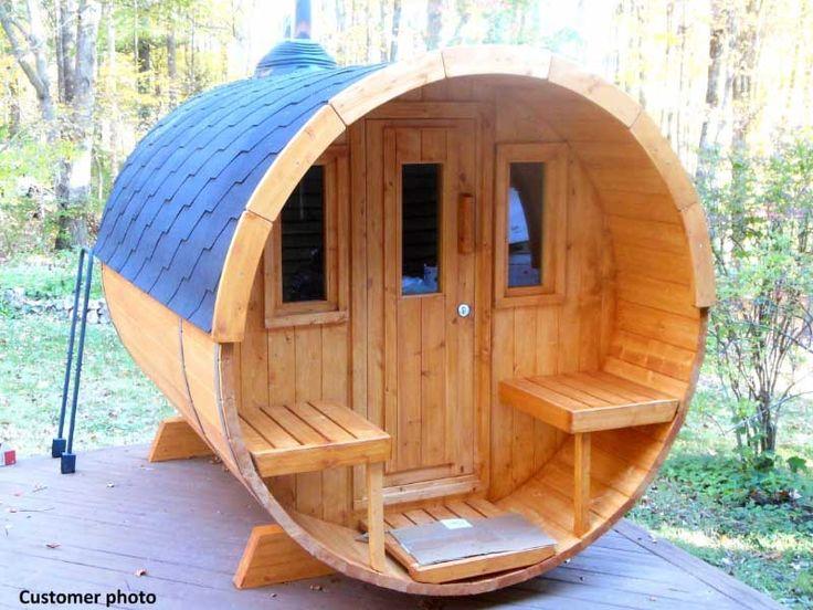 Bzb crew assembled w8 barrel sauna outdoor sauna kits