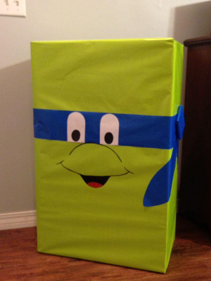 A gift I wrapped for my grandsons Ninja Turtle 2nd Birthday.  Fun!!