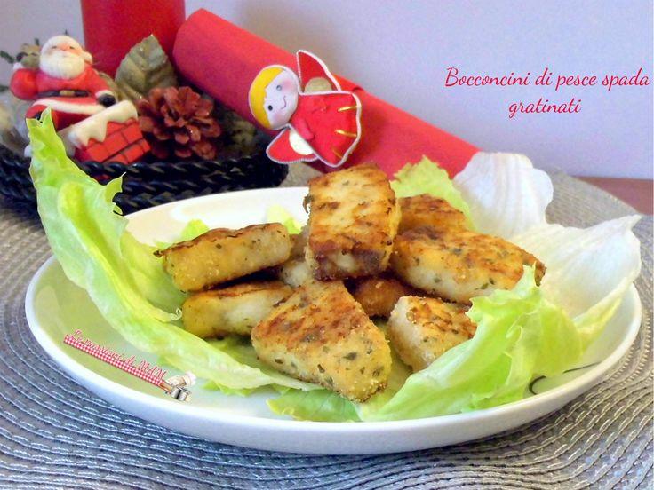 Bocconcini di pesce spada gratinati ricetta di pesce finger food per un antipasto o un aperitivo