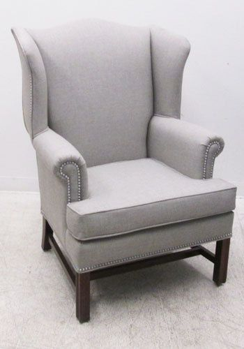 Pair of Kimball Wingback Armchairs by RelicGallery on Etsy