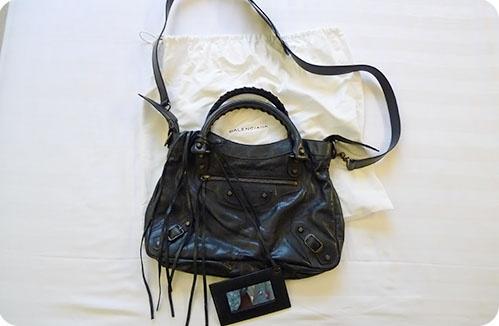one of my favourite: Balenciaga 'Town' lambskin bag in black 2010!