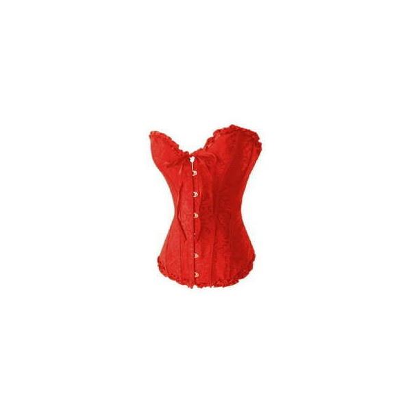 FRETE GRATIS CORSELET CORSET ESPARTILHO vermelho laço preto ❤ liked on Polyvore