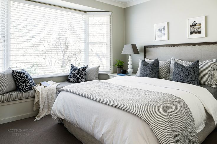 Neutral Bedroom Cottonwood Interiors Photo By Maree Homer