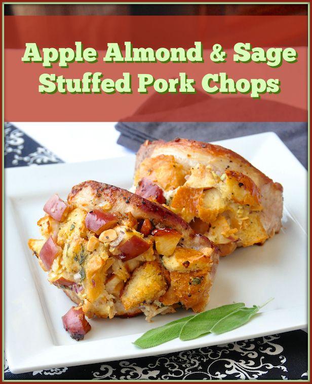 Apple Almond and Sage Stuffed Pork Chops | Recipe | Pork ...