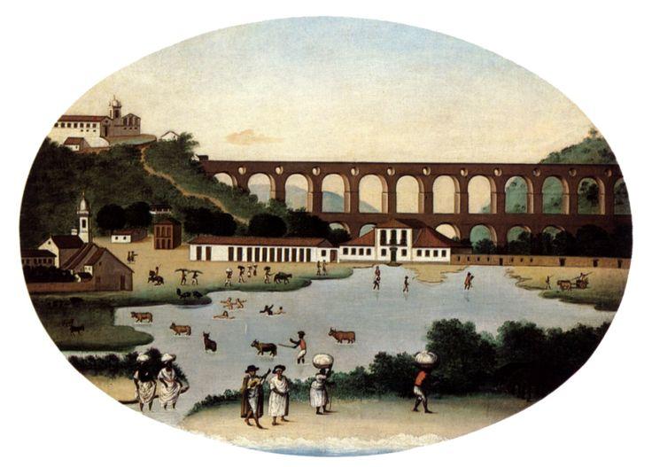 Vista do Aqueduto da Carioca e do Convento de Santa Tereza, 1790 - Leandro Joaquim