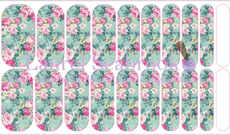 Custom made NAS designs contact me to place an order or create your own! #nas #jamberry #nailart #floral #flowers