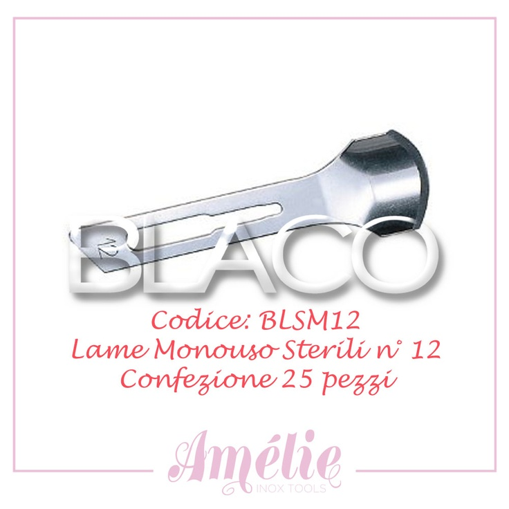 Amelie inox tools sgorbia box 25pz num. 12