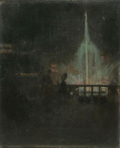 John Lavery - The Fairy Fountain, Glasgow International Exhibition 1888