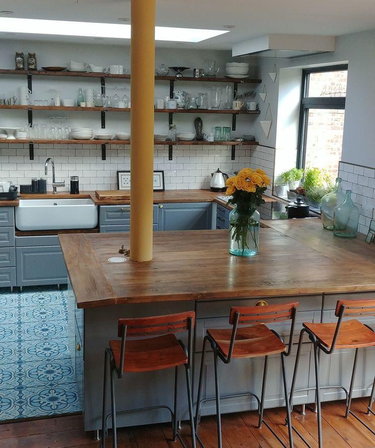 DIY IKEA KITCHEN | White ikea kitchen, Open plan kitchen ...
