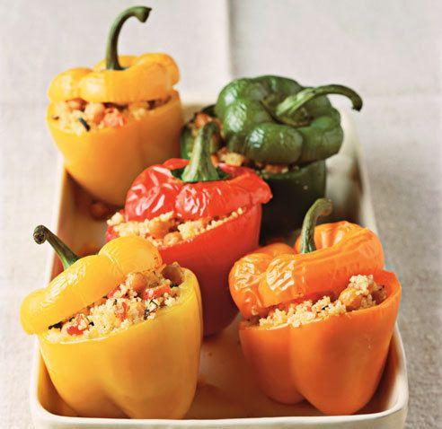 Fylt paprika - vegetar