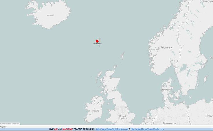 FAROE ISLANDS AIRPORTS MAP