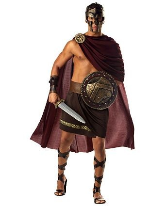 Mens Greek Spartan Warrior Costume | Mens Greek/Roman Halloween Costumes