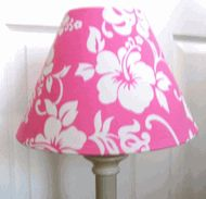 Hawaiian Lamp Shade Pink Hibiscus