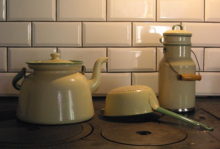 In every Swedish households. From Swedish enamel factory Kockums. ♡