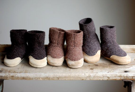 Baby Slipper Socks, Eco Friendly Wool & Leather, size 6-18, 12-24 months, Mud Pies