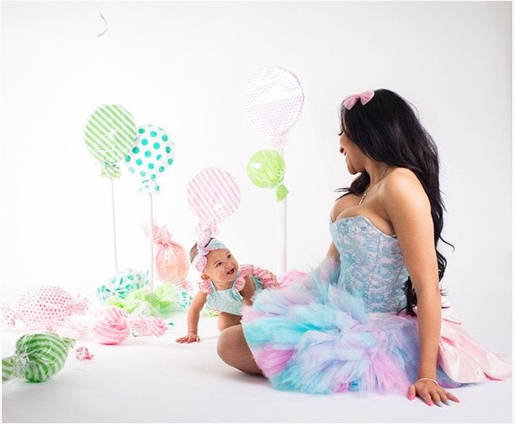 Candy land cotton candy dresses matching
