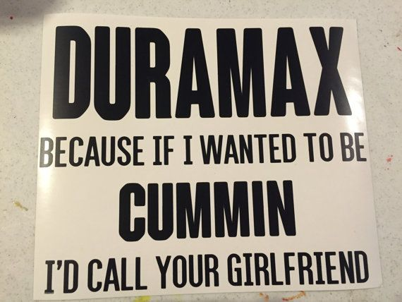 Duramax sticker duramax cummins trucks lifted trucks truck stickers 10 00